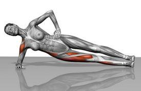Core stability oefeningen: zijwaartse plank